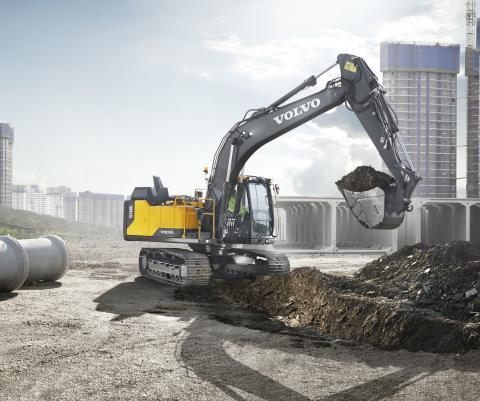 Volvo EC160E und EC180E punkten mit größerer Effizienz und Langlebigkeit