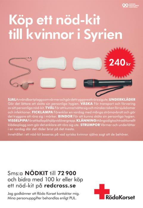 Annons - nöd-kit till kvinnor i Syrien