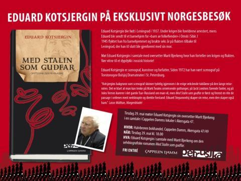 Eduard Kotsjergin på eksklusivt norgesbesøk