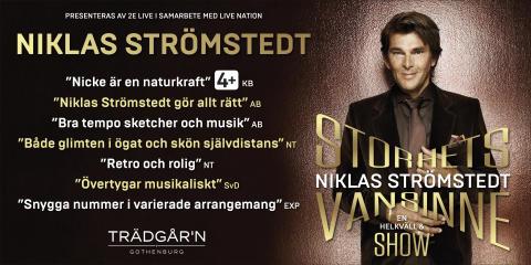 Niklas Strömstedt från showen Storhetsvansinne