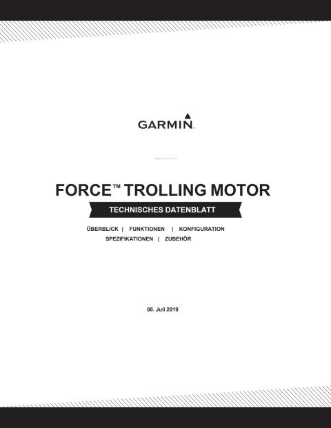 Datenblatt Garmin Force Trolling Motor