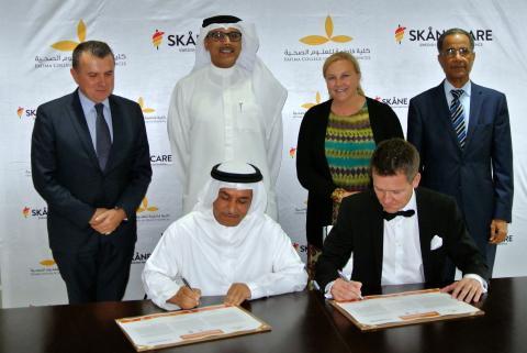 Skånsk diabeteskunskap på export - svenska handelsministern besöker utbildning i Förenade Arabemiraten