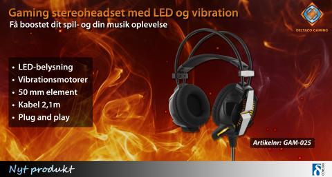 Bedre spiloplevelse med vibrerende gaming-stereoheadset!
