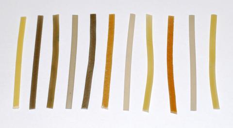Miljövänlig plast av stärkelse och protein kan läggas i komposten