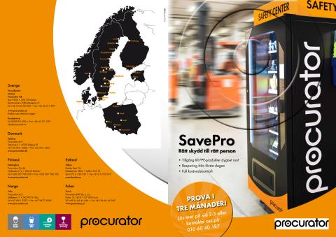 Broschyr: SavePro Vending machine, SaveRent och SaveBox
