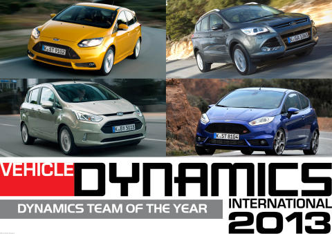 Ford får två utmärkelser för fordonsdynamik – juryn berömmer både styrning och vägegenskaper för hela modellprogrammet