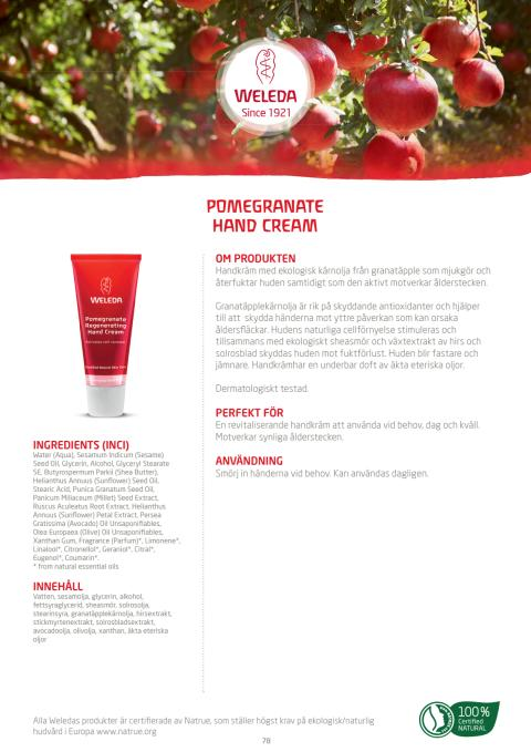 Pomegranate Regenerating Hand Cream