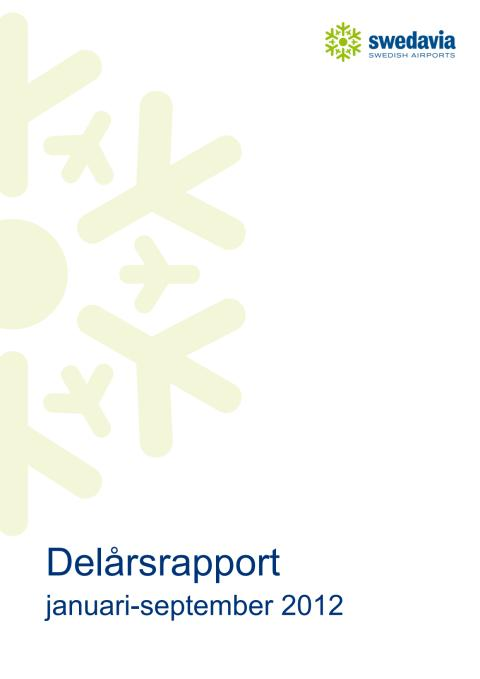 Delårsrapport jan-sep 2012