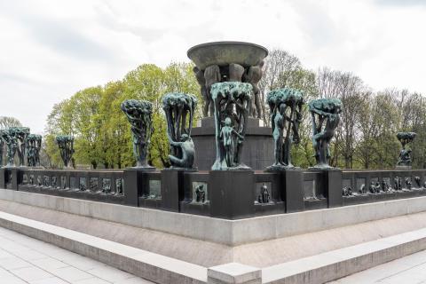 Gustav Vigelands Fontenen, nord-vestre hjørne