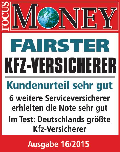 """Focus-Money"": Fairness-Ranking 2015: SIGNAL IDUNA zum vierten Mal fairster Kfz-Versicherer"