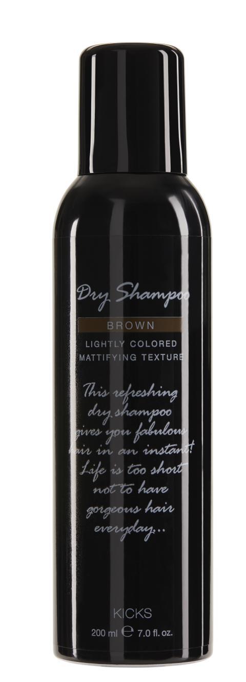 KICKS Dry Shampoo Brown 200ml