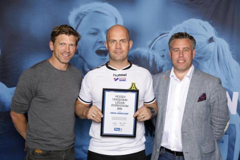 Mikael Andreasson, Åsa IF, tilldelas  Woody Ungdomsledarstipendiet 2016