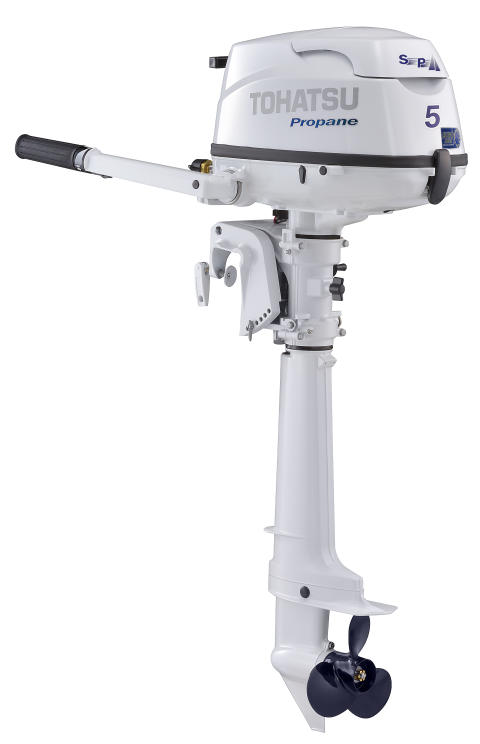 Tohatsun nestekaasukäyttöinen perämoottori MFS5CLPG