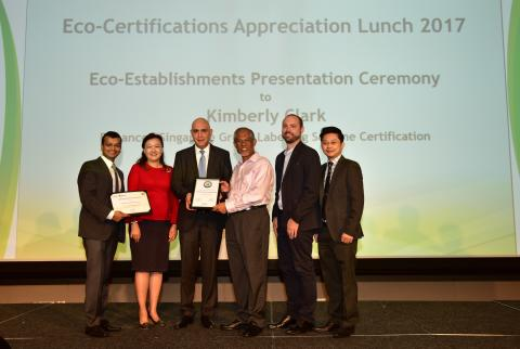 Singapore Environment Council awards first enhanced green label to Kimberly-Clark