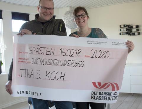 Tina fra Rinkenæs har held i både spil og kærlighed