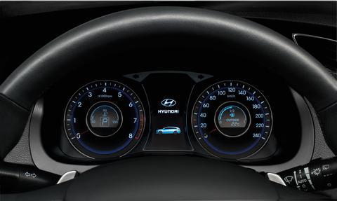 Hyundai i40 cluster