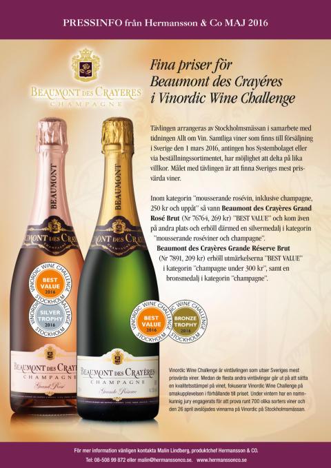 Prisregn över Beaumont des Crayéres Champagne