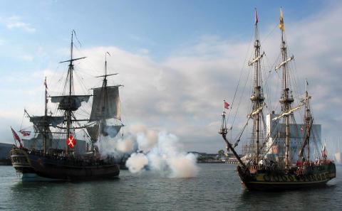 Tordenskjold kæmper for sit liv i Københavns Havn