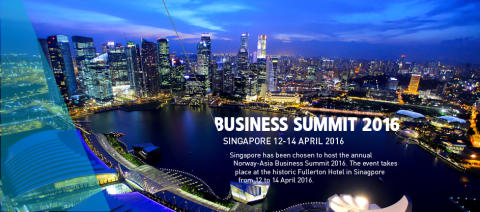 EARLY BIRD: Norway-Asia Business Summit Singapore 12-14 April 2016