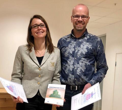 Bengt Dahlgrens medarbetare tilldelas brandtekniskt stipendium