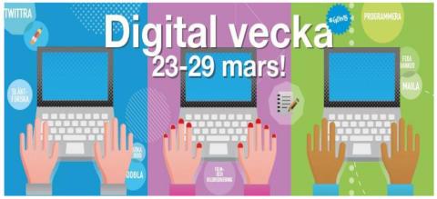 Digitala veckan på biblioteken i Lindesberg