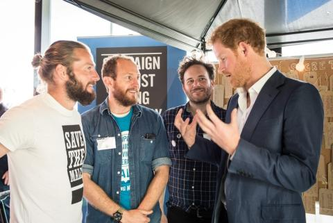 Prince Harry talks to CALM at Heads Together launch, May 2016_CREDIT Paulie Deauville