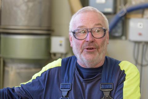 Bengt-Erik Svensson, stolt nestor i fabriken