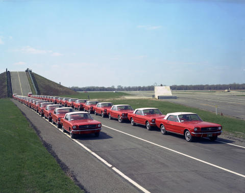29,545 miles 1964 Fleet of Mustangs