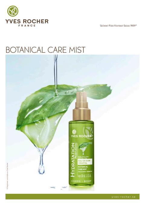 Pressinformation om Botanical Care Mist