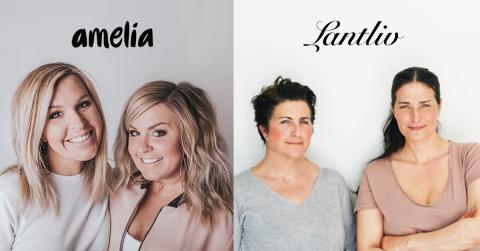 Tvillingarna Lagergren och systrarna Eisenman är nya influencers på amelia & Lantliv