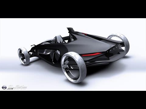 Volvo Air Motion – en ultralätt musselskalsformad sportbil