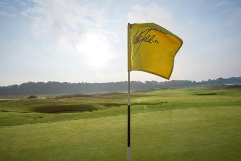 A-ROSA Scharmuetzelsee Golf Platz Nick Faldo Fahne