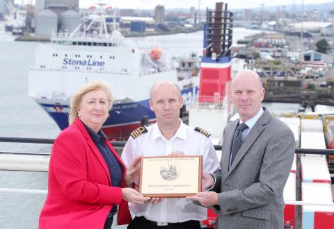 Belfast welcomes Stena Forerunner as Stena Line increases freight capacity by almost 10% on Belfast to Liverpool route