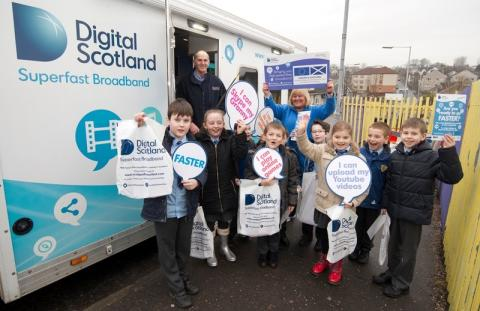 Airdrie pupils get a lesson with fibre broadband