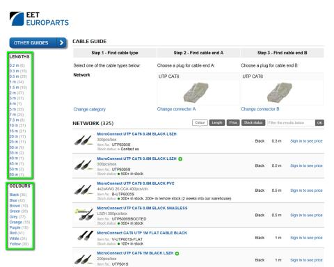 EET Europarts has developed an efficient, time and cost saving EET Europarts Cable Guide.