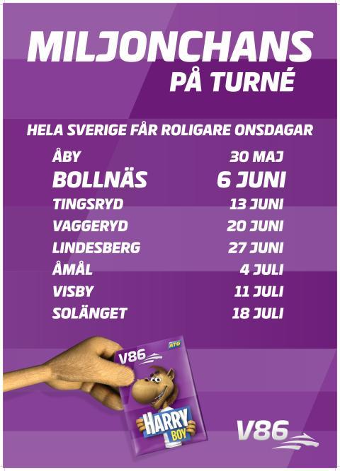 Jackpot på V86 när onsdagsturnén når Bollnäs