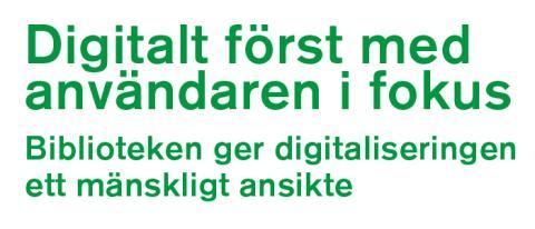 """Nationella biblioteksstrategin föreslår: """"Ge alla invånare digitalt kompetenslyft genom bred bibliotekssatsning"""""""