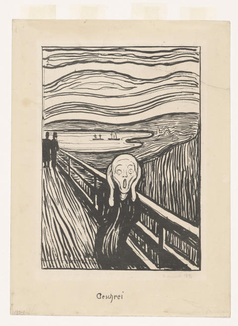 Historic publication of Munch drawings