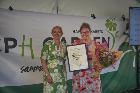 Anette K. Pedersen (Fru Pedersens have) vandt award for Årets haveoplevelse