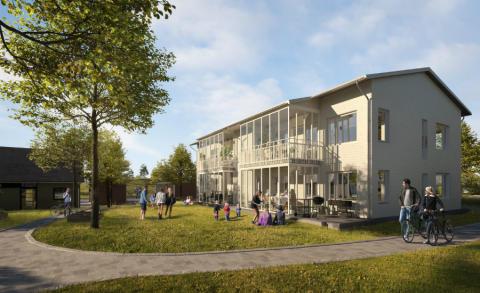 Pressinbjudan: Riksbyggen säljstartar Brf Korseberg Strand i Vänersborg