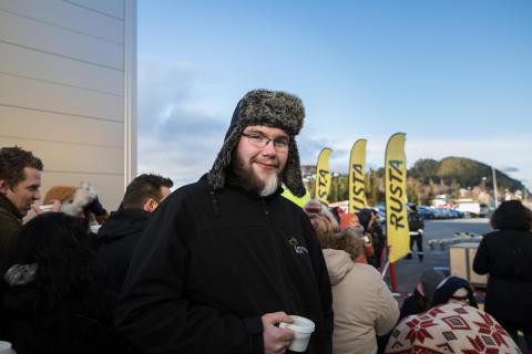 Førstemann i køen, Andreas Kloken_foto.JohnnyVaetNordskog
