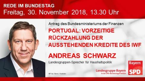 Andreas Schwarz in der Bundestagsdebatte