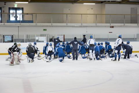 U18 jääkiekkomaajoukkueen harjoitukset