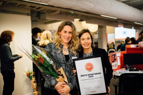 Hyresgästföreningen vann utmärkelsen Årets nyhetsrum 2015