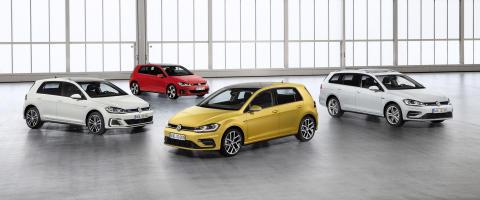 Världspremiär för uppdaterade Volkswagen Golf