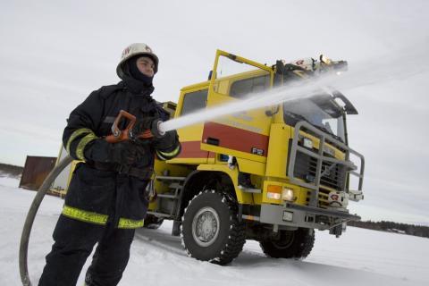 Securitas etablerar utbildningscenter i brandsäkerhet på Skellefteå Airport