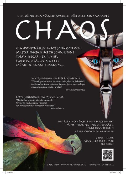 CHAOS – konstglasutställning i Pininfarinas bergrum i Uddevalla - Formgivaren Mats Jonasson Målerås ställer ut sina mästerverk i kristall