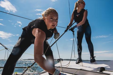 Klara Wester och Rebecca Netzler
