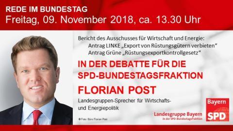 Florian Post in der aktuellen Bundestagsdebatte