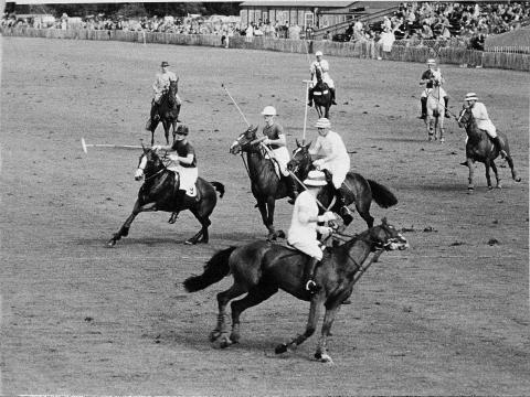 Polo-match på 1930-talet